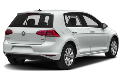 3/4 Rear Glamour  2017 Volkswagen Golf