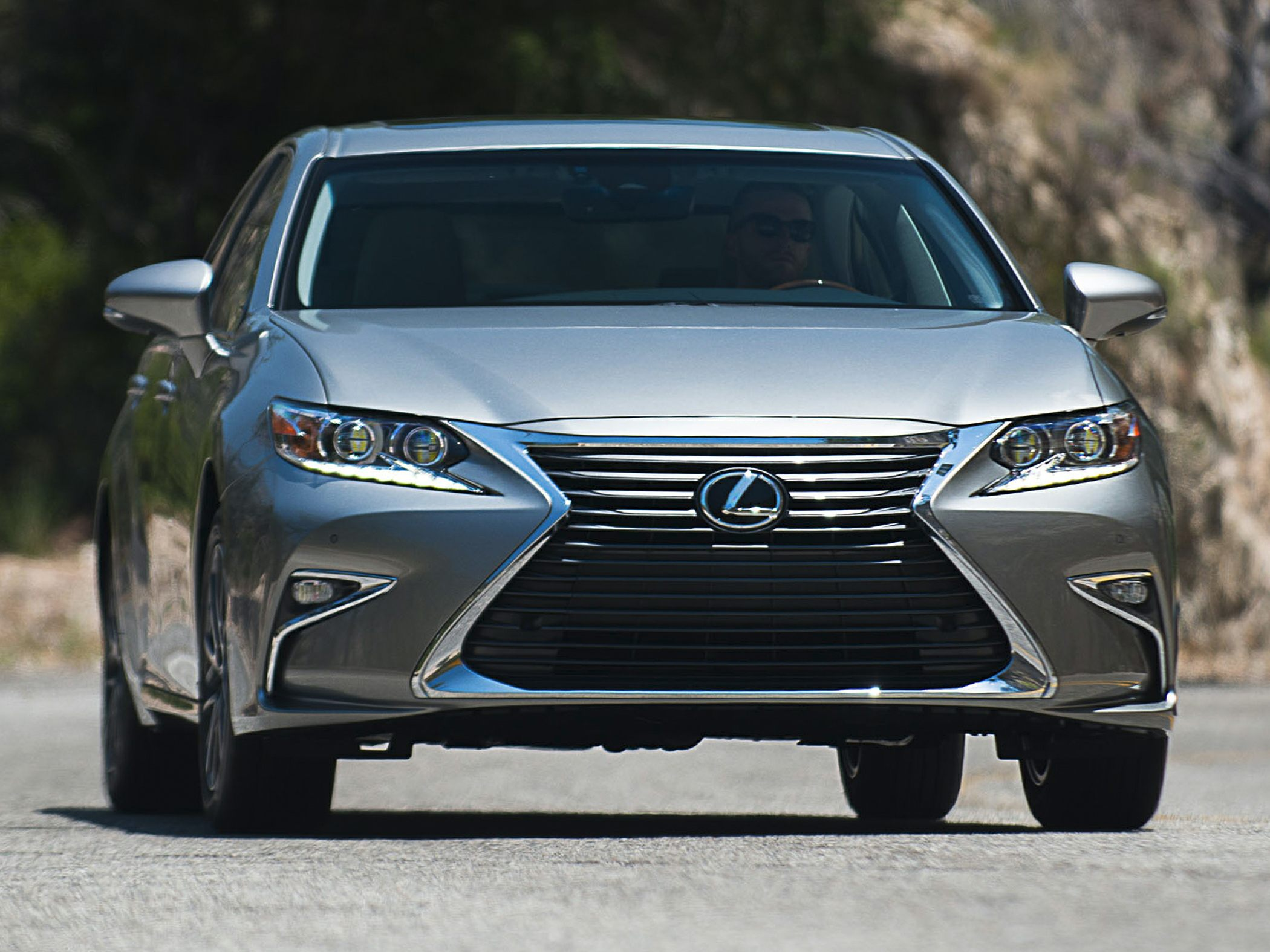 Led headlights are now standard and part of a redesigned fascia that gives the es 350 a wider appearance new exterior colors and interior finishes are now