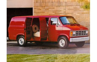 3/4 Front Glamour 1993 Dodge B250 Ram