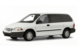 3/4 Front Glamour 2000 Ford Windstar