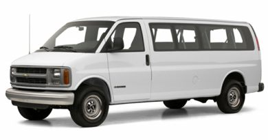 3/4 Front Glamour 2001 Chevrolet Express LT
