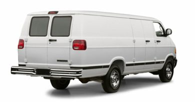 3/4 Rear Glamour  2001 Dodge Ram Van 3500