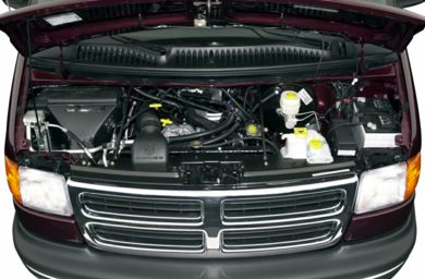 Engine Bay  2001 Dodge Ram Wagon 2500