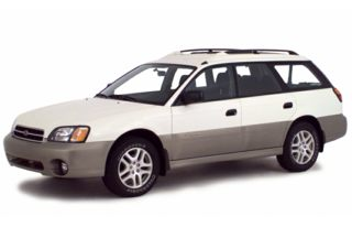 3/4 Front Glamour 2001 Subaru Outback