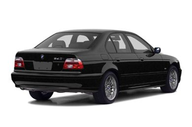 3/4 Rear Glamour  2002 BMW 540