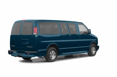 3/4 Rear Glamour  2002 Chevrolet Express LT
