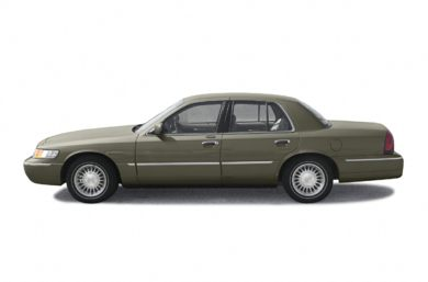 90 Degree Profile 2002 Mercury Grand Marquis