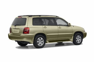 3/4 Rear Glamour  2003 Toyota Highlander