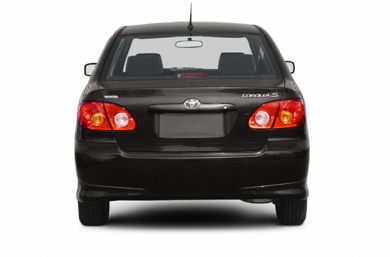 Rear Profile  2004 Toyota Corolla