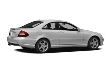 3/4 Rear Glamour  2009 Mercedes-Benz CLK550