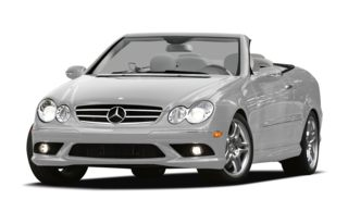 3/4 Front Glamour 2009 Mercedes-Benz CLK350