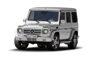3/4 Front Glamour 2009 Mercedes-Benz G55 AMG