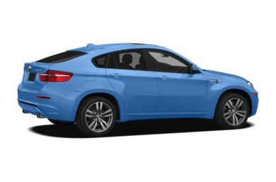 3/4 Rear Glamour  2011 BMW X6 M