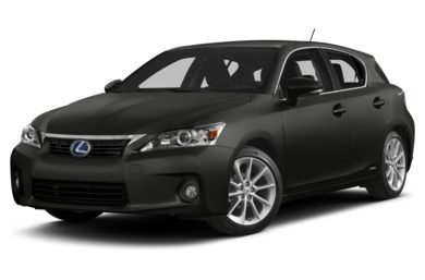3/4 Front Glamour 2011 Lexus CT 200h