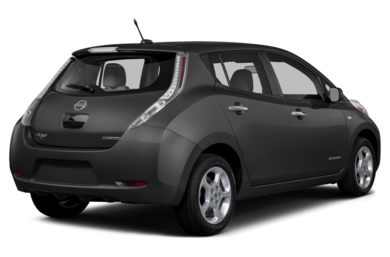 3/4 Rear Glamour  2014 Nissan LEAF