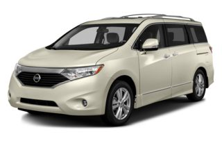 3/4 Front Glamour 2014 Nissan Quest