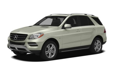 3/4 Front Glamour 2012 Mercedes-Benz ML350