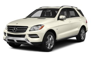 3/4 Front Glamour 2013 Mercedes-Benz ML350