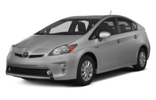 3/4 Front Glamour 2012 Toyota Prius Plug-in