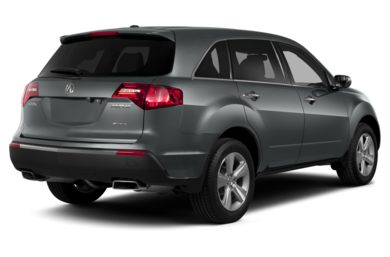 3/4 Rear Glamour  2013 Acura MDX
