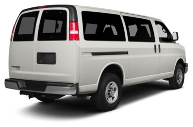 3/4 Rear Glamour  2013 Chevrolet Express 1500