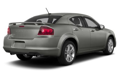 3/4 Rear Glamour  2013 Dodge Avenger