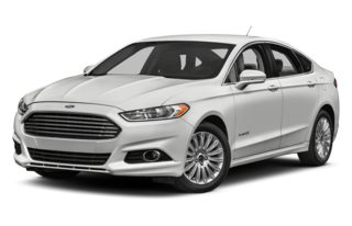 3/4 Front Glamour 2013 Ford Fusion Hybrid