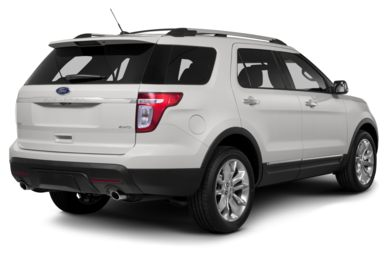 3/4 Rear Glamour  2013 Ford Explorer