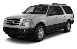 3/4 Front Glamour 2013 Ford Expedition EL