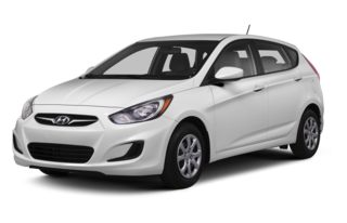 3/4 Front Glamour 2013 Hyundai Accent