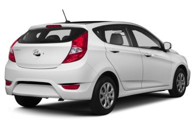 3/4 Rear Glamour  2013 Hyundai Accent
