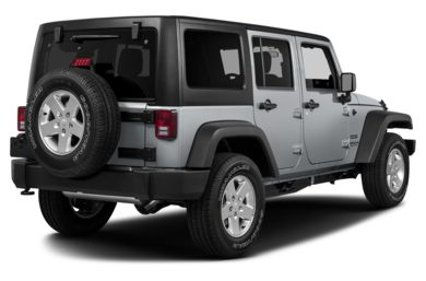 3/4 Rear Glamour  2014 Jeep Wrangler Unlimited