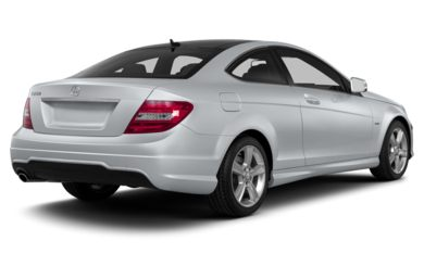 3/4 Rear Glamour  2013 Mercedes-Benz C250