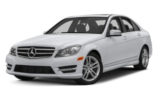3/4 Front Glamour 2013 Mercedes-Benz C250