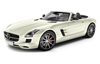 3/4 Front Glamour 2013 Mercedes-Benz SLS AMG