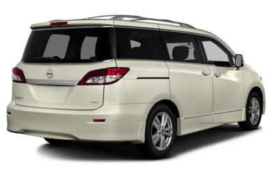 3/4 Rear Glamour  2013 Nissan Quest