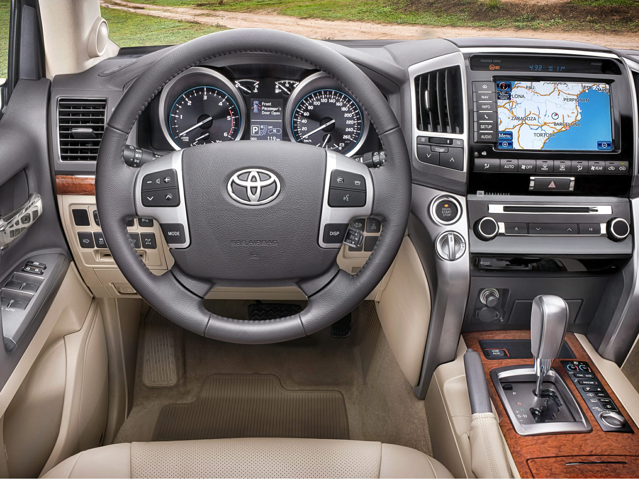 toyota land cruiser dash