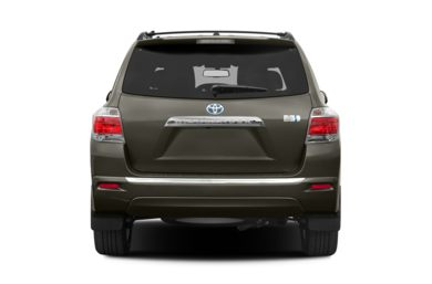 Rear Profile  2013 Toyota Highlander Hybrid