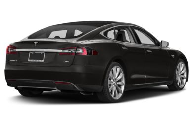 3/4 Rear Glamour  2014 Tesla Model S