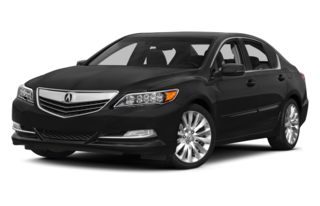 3/4 Front Glamour 2014 Acura RLX