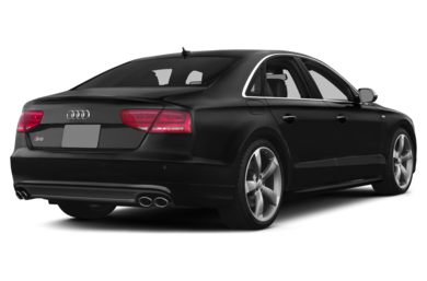 3/4 Rear Glamour  2014 Audi S8