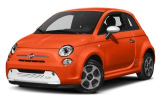 3/4 Front Glamour 2014 FIAT 500e