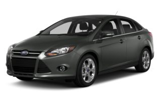 3/4 Front Glamour 2014 Ford Focus