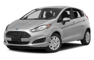 3/4 Front Glamour 2014 Ford Fiesta