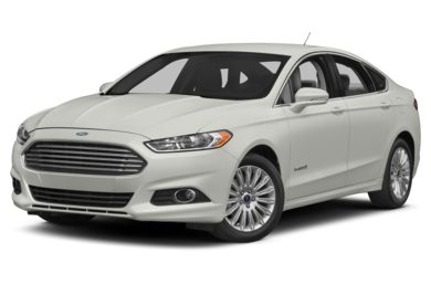 3/4 Front Glamour 2014 Ford Fusion Hybrid