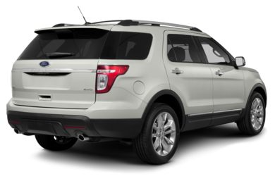 3/4 Rear Glamour  2014 Ford Explorer