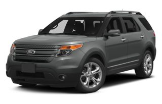 3/4 Front Glamour 2014 Ford Explorer