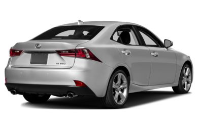 3/4 Rear Glamour  2015 Lexus IS 350