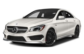 3/4 Front Glamour 2014 Mercedes-Benz CLA45 AMG
