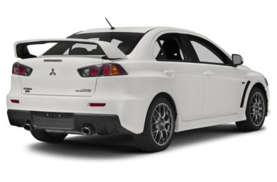 3/4 Rear Glamour  2014 Mitsubishi Lancer Evolution